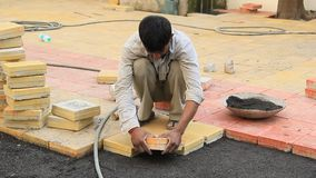 Paving Blocks stock footage