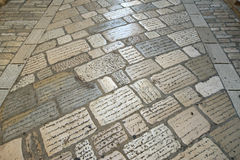 Paving bricks (pavers) Royalty Free Stock Images