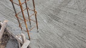 Paving mortar cement and make texture of the house floor zoom in Royalty Free Stock Photos