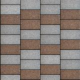 Paving Consisting of  Rectangles Laid Out in a Stock Photos