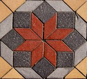 Paving. Detail of geometrical paving from Marmaris, Turkey royalty free stock photo