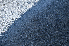 Paving a Driveway with Asphalt Royalty Free Stock Photography