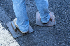 Paving a Driveway Stock Images