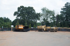 Paving Equipment on New Road Royalty Free Stock Photo