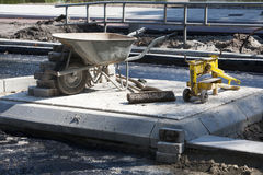Paving equipment Stock Image