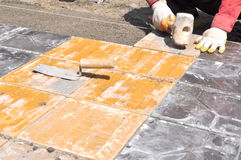 Paving footway Stock Photo