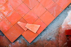 Paving paths tiles Stock Photography
