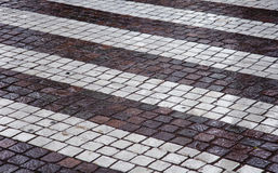 Paving road crossing symbol Stock Image