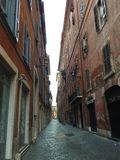 Paved Streets of Rome Italy royalty free stock photos