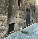 Water Pump on the Paved Streets of Rome Italy stock photography