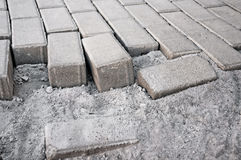 Paving sidewalk tile Stock Image