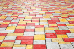 Paving slab perspective background Stock Photos