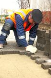Paving slabs Stock Images