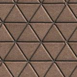 Paving Slabs Brown Pattern of Small Triangles Royalty Free Stock Photography