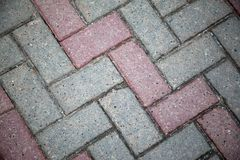 Paving slabs in the city stock images