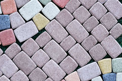 Paving slabs close up a background Royalty Free Stock Photo