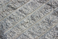 Paving slabs of concrete on the street harvested for laying trac Stock Image