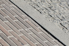 Paving slabs and cranial curbs Royalty Free Stock Photo