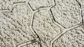 Paving slabs on the desktop Royalty Free Stock Image