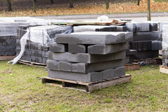 Paving slabs on a pallet Royalty Free Stock Photos