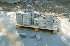 Paving slabs on a pallet Stock Images