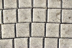 Paving slabs,patterned paving tiles, cement brick floor background. Stock Images