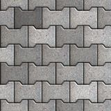 Paving Slabs. Seamless Tileable Texture. Gray Figured Paving Slabs. Seamless Tileable Texture Royalty Free Stock Image