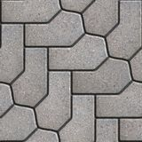 Paving Slabs. Seamless Tileable Texture. Gray Figured Paving Slabs. Seamless Tileable Texture Stock Photography