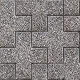 Paving Slabs. Seamless Tileable Texture. Gray Granular Figured Cruciform Pavement. Seamless Tileable Texture Royalty Free Stock Photography