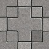 Paving Slabs. Seamless Tileable Texture. Gray Pavement - Big Cross and Square. Seamless Tileable Texture Royalty Free Stock Photo