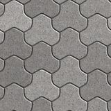 Paving Slabs. Seamless Tileable Texture. Gray Pavement Consisting of Three Combined Hexagons. Seamless Tileable Texture Royalty Free Stock Photography