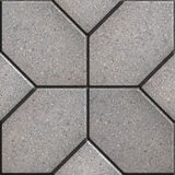 Paving Slabs. Seamless Tileable Texture. Gray Pavement of Four Hexagons in the Form of Petals. Seamless Tileable Texture Royalty Free Stock Photography