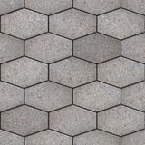 Paving Slabs. Seamless Tileable Texture. Gray Pavement of Hexagons as Honeycomb. Seamless Tileable Texture Royalty Free Stock Images