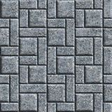 Paving Slabs. Seamless Tileable Texture. Gray Pavement - Rectangular and Square. Seamless Tileable Texture Stock Images