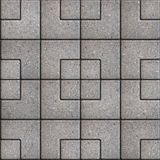 Paving Slabs. Seamless Tileable Texture. Gray Pavement of Squares of Different Sizes. Seamless Tileable Texture Royalty Free Stock Photo