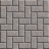 Paving Slabs. Seamless Tileable Texture. Gray Rectangular Paving Slabs. Seamless Tileable Texture Stock Images