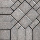 Paving Slabs. Seamless Tileable Texture. Gray Square and Hexagon Figured Pavements. Seamless Tileable Texture Stock Photos