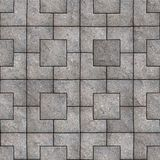 Paving Slabs. Seamless Tileable Texture. Gray Square Pavement. Seamless Tileable Texture Stock Image