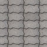Paving Slabs. Seamless Tileable Texture. Gray Wavy Paving Slabs. Seamless Tileable Texture Stock Photos