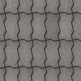 Paving Slabs. Seamless Tileable Texture. Gray Wavy Paving Slabs, Vertical Stacking. Seamless Tileable Texture Royalty Free Stock Photo