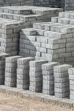 Paving slabs, stone blocks. The paving slabs, stone blocks which is accurately put and prepared for laying Stock Photography
