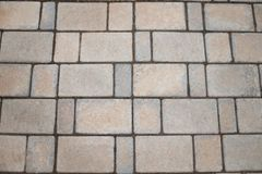 Paving slabs in the yard. royalty free stock photography