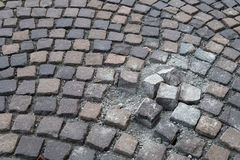 Paving stone - coblestone Royalty Free Stock Images
