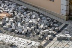 Paving stone - coblestone Royalty Free Stock Photo