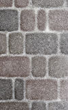 Paving stone covered with a thin layer of snow Stock Images