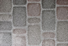 Paving stone covered with a thin layer of snow Royalty Free Stock Photography