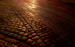 Paving stone at dawn, background Stock Image