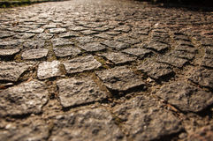 Paving stone. On the footpath to the rhythm Royalty Free Stock Photography