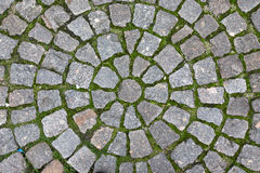 Paving stone laid out circles. background Stock Photography