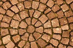 Paving stone laid out circles. background Royalty Free Stock Photo